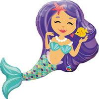 "Little Mermaid Purple Foil Balloon 38"""