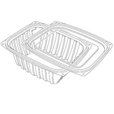 32 OZ Clear Rectangular Container with Flat Lid/Set of 252