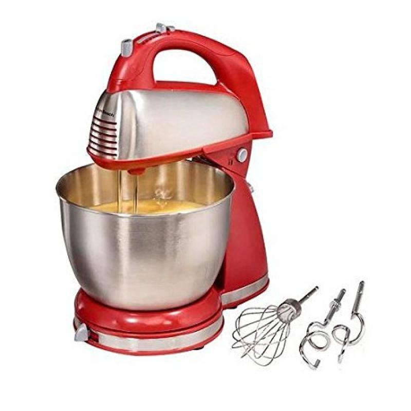 Hamilton Beach Classic Hand and Stand Mixer RED 4-quart, 6-speed