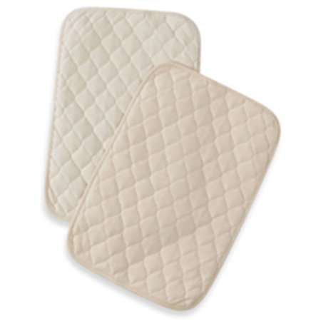 TL CARE ® Flat Waterproof Quilted Lap Pads & Burp Pads 2 ct bag
