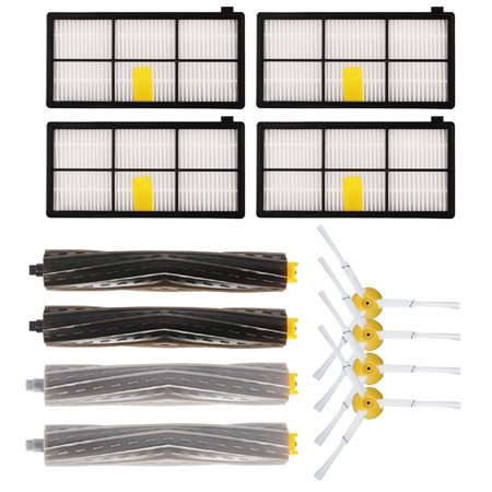 4 Side Brushes 4 Filters 4 Extractors Hepa Filter kit for Roomba 800 series 870 880 980 900