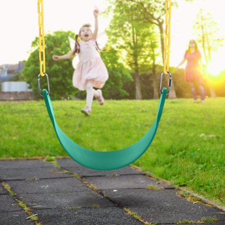 Swing Seat with Heavy Duty 60Inch Long Chain Plastic Coated - Playground Swing Set Accessories