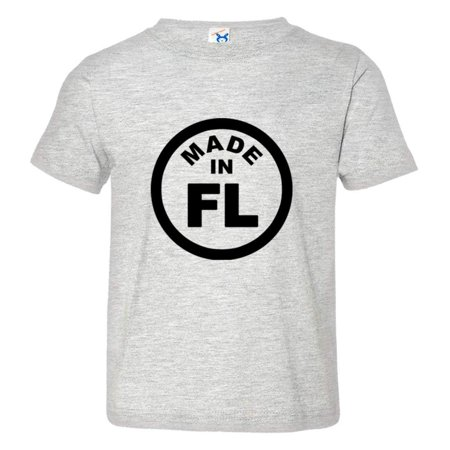 PleaseMeTees™ Toddler From Born Made In Florida FL Logo Label Tag HQ Tee