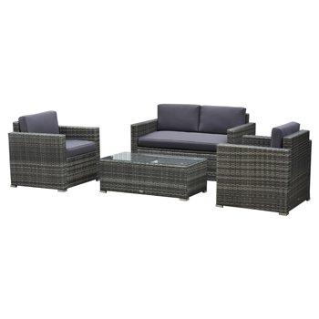Outsunny 4-Pieces Outdoor Wicker Patio Sofa Set
