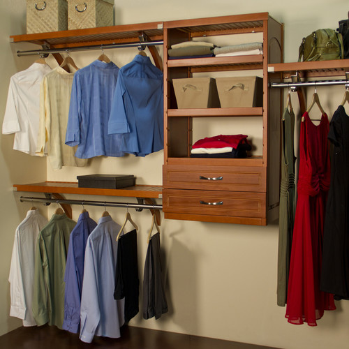 John Louis Home Woodcrest 12 in. D Closet System