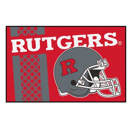 the latest b5a22 4b69c NCAA Rutgers University Scarlet Knights Starter Mat Rectangular Area Rug -  Walmart.com