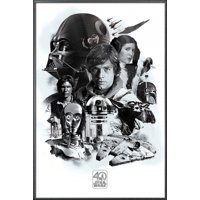 """Star Wars: Episode IV - A New Hope - Movie Poster / Print (40th Anniversary Character Collage) (Size: 24"""" x 36"""")"""