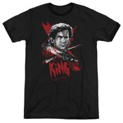 Mgm Army Of Darkness Hail To The King Mens Adult Heather Ringer Shirt