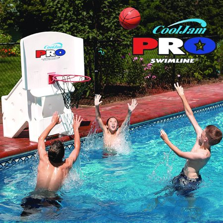 Cool jam pro swimming pool basketball game for Two player swimming pool games