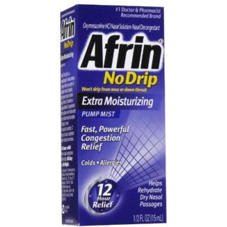 2 Pack - Afrin No Drip Pump Mist, Extra Moisturizing 15 mL