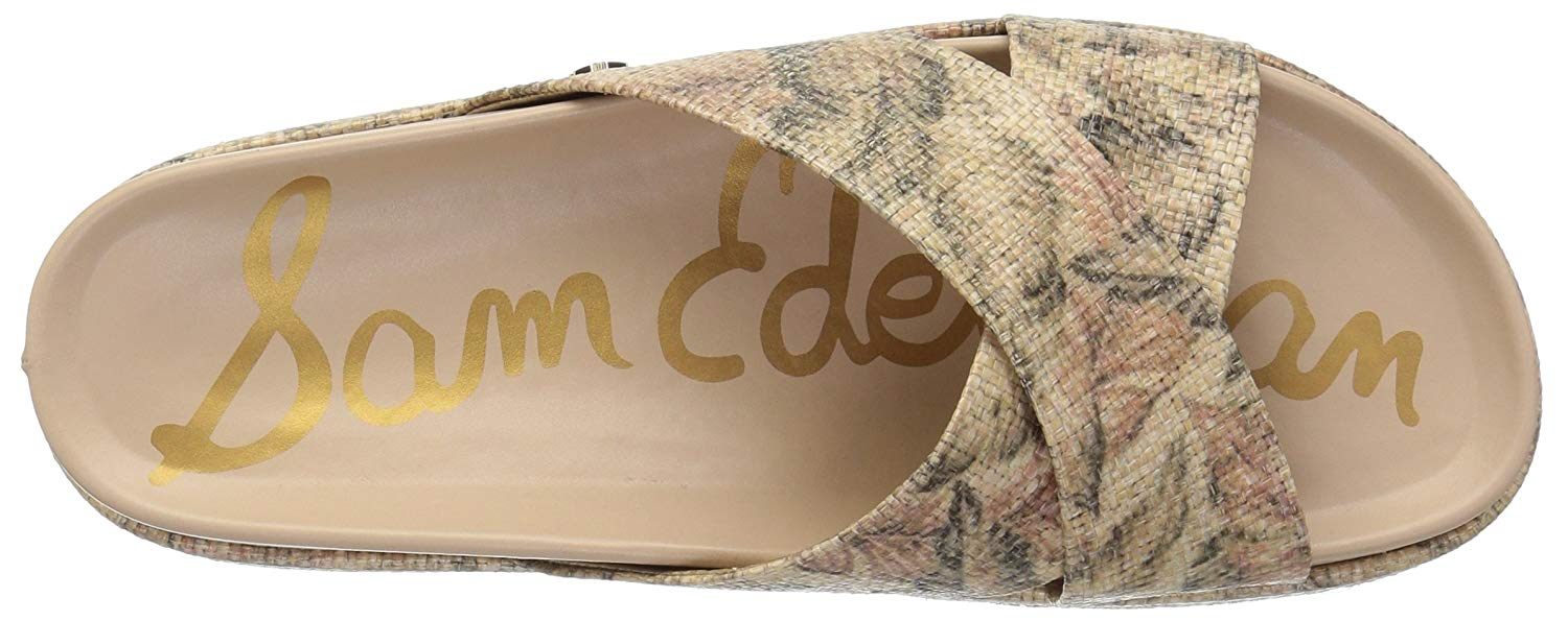 9d05fdfcb Sam Edelman - Sam Edelman Womens Sadia Fabric Open Toe Casual Slide Sandals  - Walmart.com