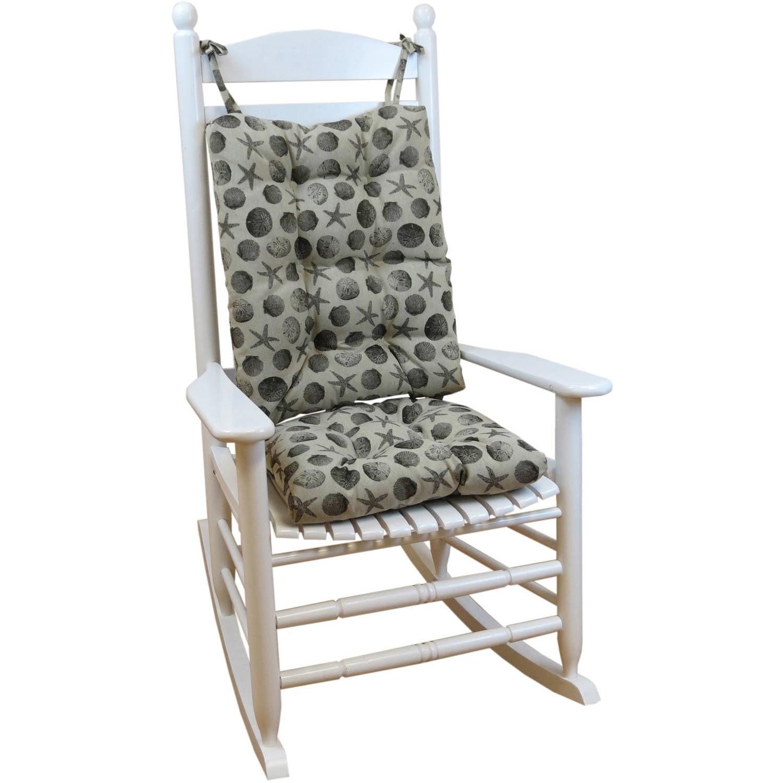 Gripper Jumbo Rocking Chair Cushions, Seashell