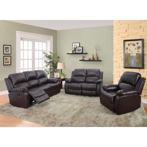 Red Barrel Studio Hartranft Reclining 3 Piece Living Room