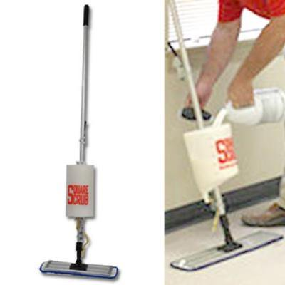 Ss-Bos24 Square Scrub Bucket On A Stick