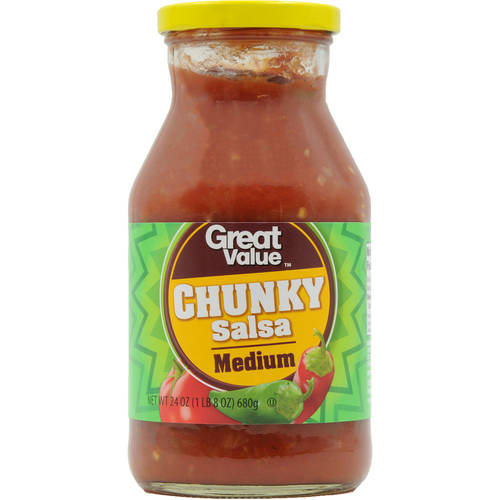 Great Value Medium Thick & Chunky Salsa, 24 oz