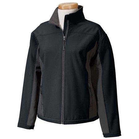 Devon & Jones Womenâs 3 Season Rain Softshell Jacket Fleece Lined Black/Gray