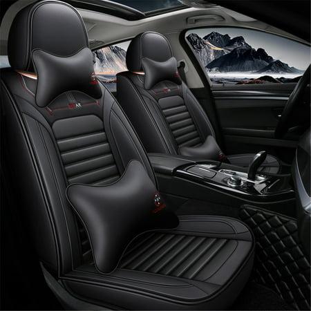 Car Seat Cover 5 Seat Car Anti Static Soft Texture Pu Leather Auto Seat Cushion Cover Seat Protector Four Seasons Universal Walmart Canada