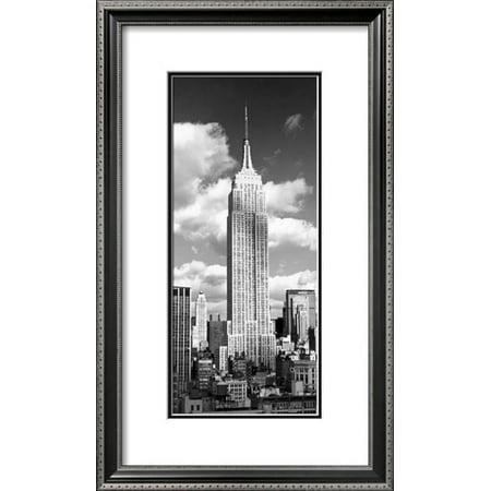 - Empire State Building Framed Art Print Wall Art  By Henri Silberman - 15x25.5