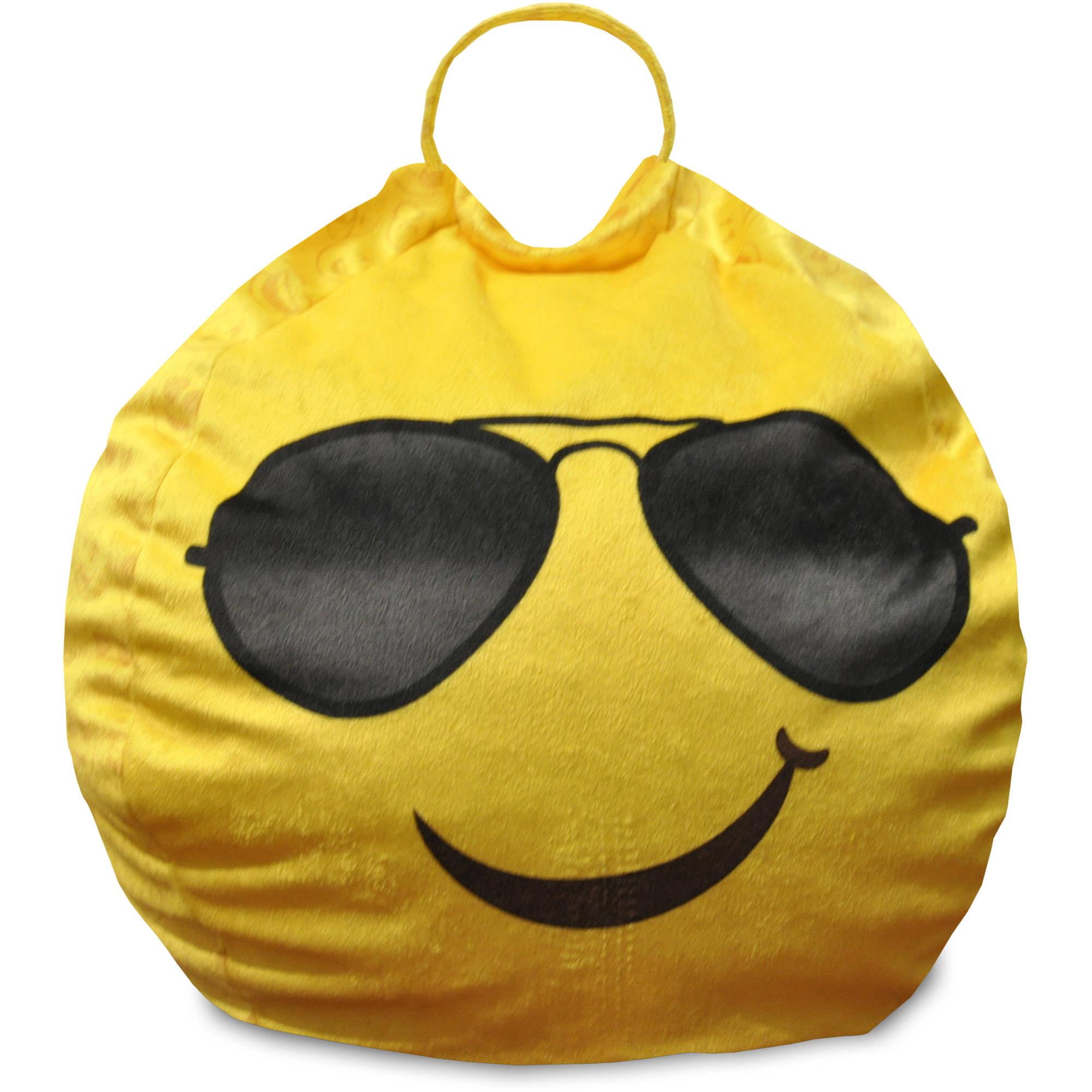Emoji Pals Cool Shades Mini Bean Bag With Handle