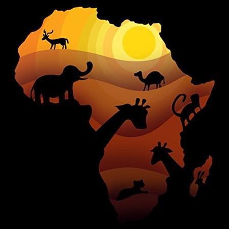 """African Animals"" Sahara Bush Wildlife - Vinyl Sticker"