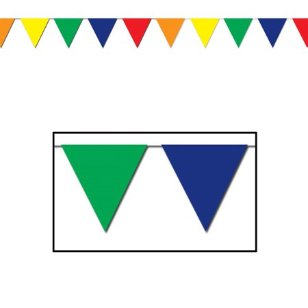 Club Pack of 12 Multi-Colored Circus Themed Outdoor Pennant Banner Hanging Party Decorations 120' (Circus Theme)