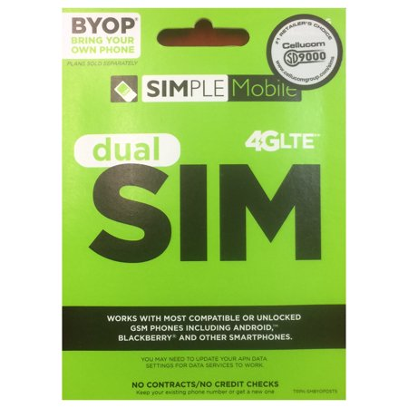 SIMPLE Mobile Dual SIM Card