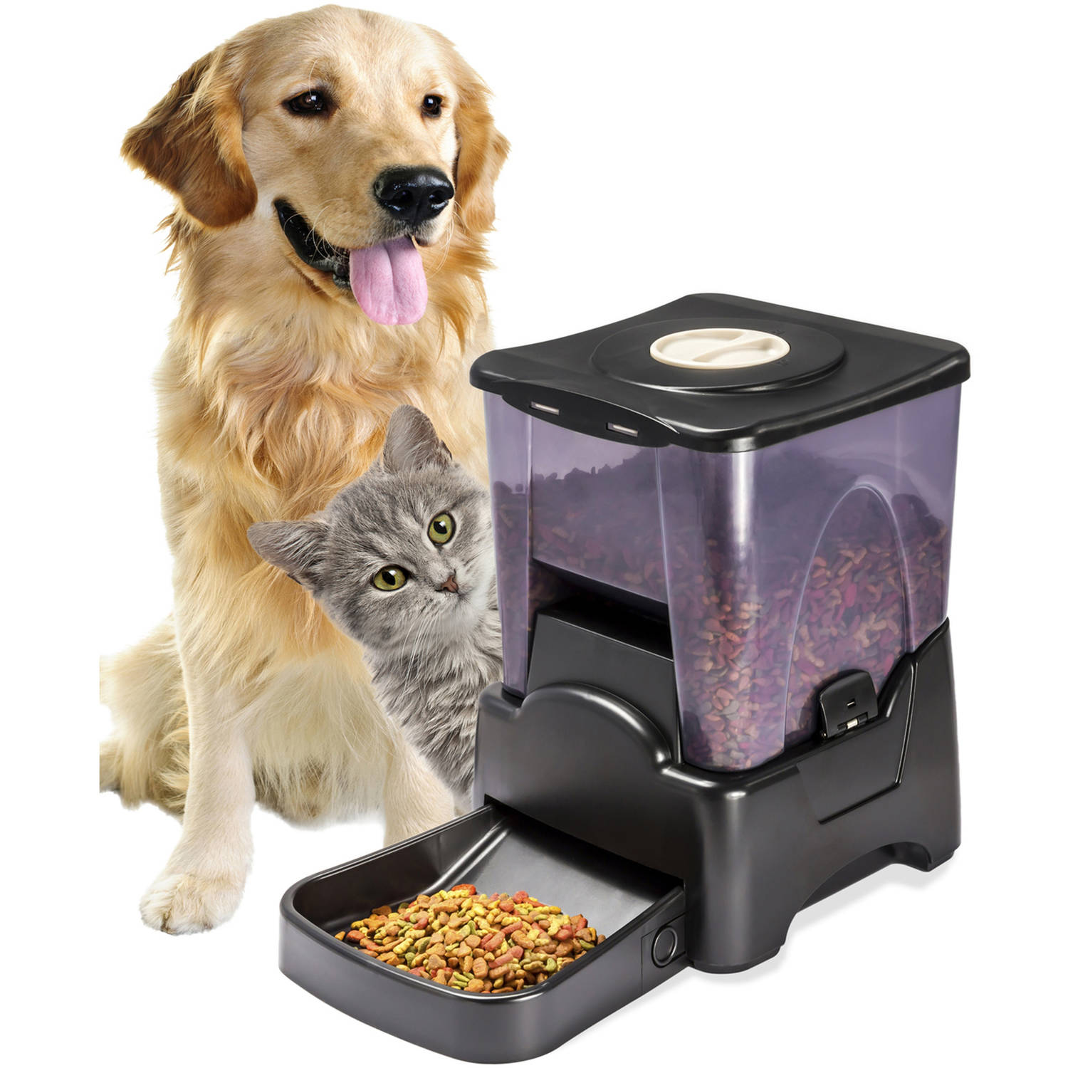 Oxgord Electronic Timer Programmable Dog Feeder for Large to Small Dogs