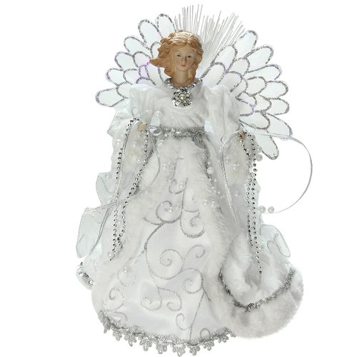 The Holiday Aisle Lighted Angel with Gown Christmas Tree Topper