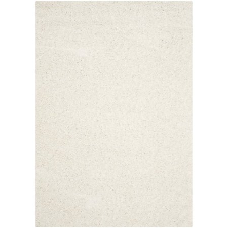 Safavieh Athens Shag 3' X 5' Power Loomed Polypropylene Rug in White - image 3 de 3