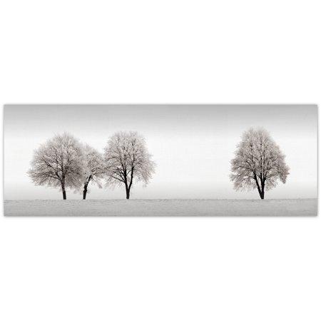 Masterpiece Art Gallery Snowy Tree Line by Ilona Wellmann Canvas Photo Graphic Art Print 12