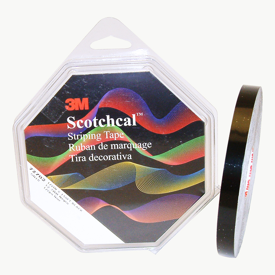 Image of 3M Scotch Scotchcal Striping Tape: 1/2 in. x 50 yds. (Black)
