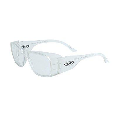 Global Vision Eyewear RX Series Sunglasses with Xylex Shiny Crystal Clear Frame and Clear Safety Lenses