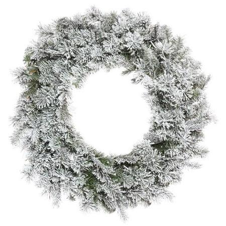Vickerman K173530 30 in. Flocked Kiana Green Wreath with 275 Tips Light - image 1 de 1