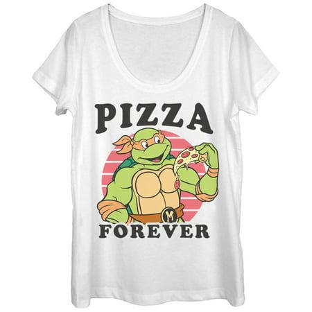 Teenage Mutant Ninja Turtles Women's Pizza Forever Scoop Neck T-Shirt](Ninja Clothes For Sale)
