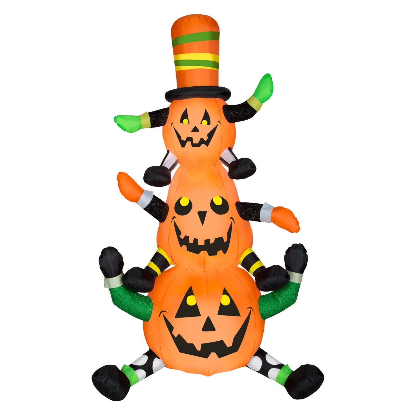 Airblown Inflatables Animated Whimsy Pumpkin Stack Inflatable