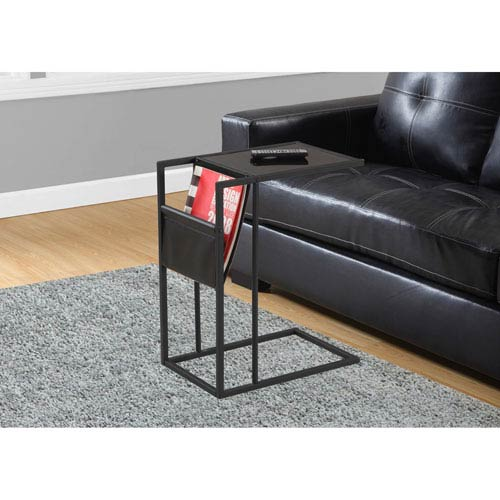 Click here to buy Accent Table Black   Black Metal with a Magazine Rack.