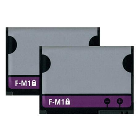 Replacement Battery 3.7v For Blackberry F-M1 / BLI-1148-1 / Pearl 9105 3G Models 2 Pack Blackberry Pearl Battery Cover