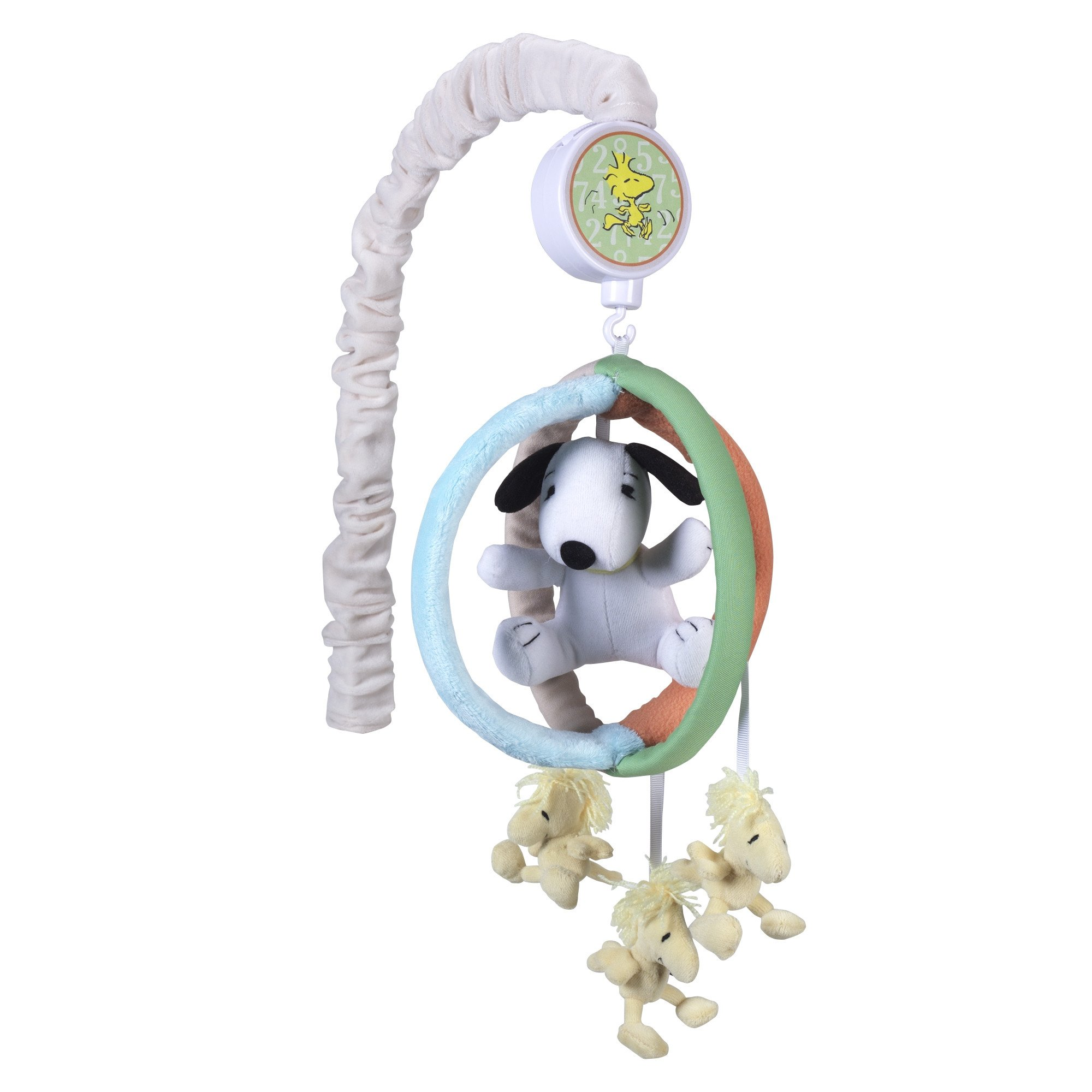 Lambs & Ivy BFF Snoopy Blue Green Orange Musical Baby Crib Mobile by Lambs %26 Ivy