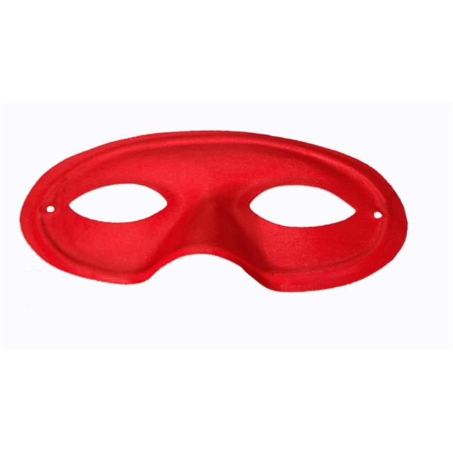 WeGlow International 24MSK1R Red Plastic Mask - Set Of 6