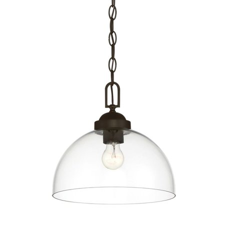 Designers Fountain-95932-ORB-Knoll - One Light Down Pendant  Oil Rubbed Bronze Finish with Clear Orb Down Pendant