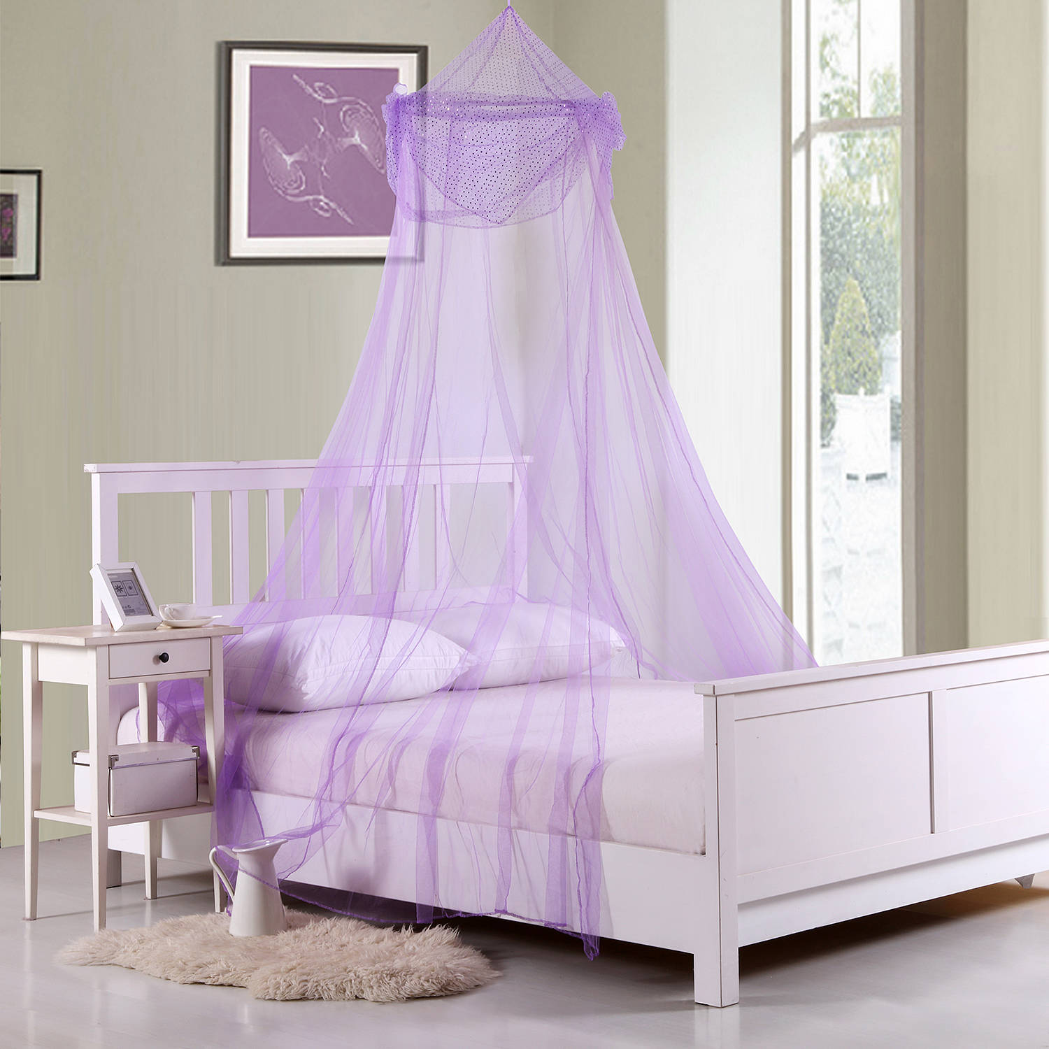 Raisinette Kids' Collapsible Hoop Sheer Bed Canopy