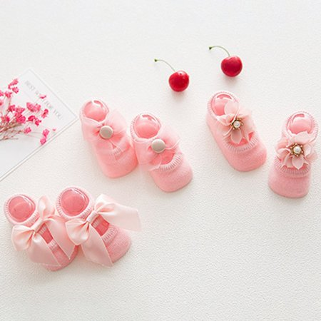 Baby-Girls Bow Tie Lace Socks Newborn/Infant/Toddler/Little Girls Socks - image 6 de 8