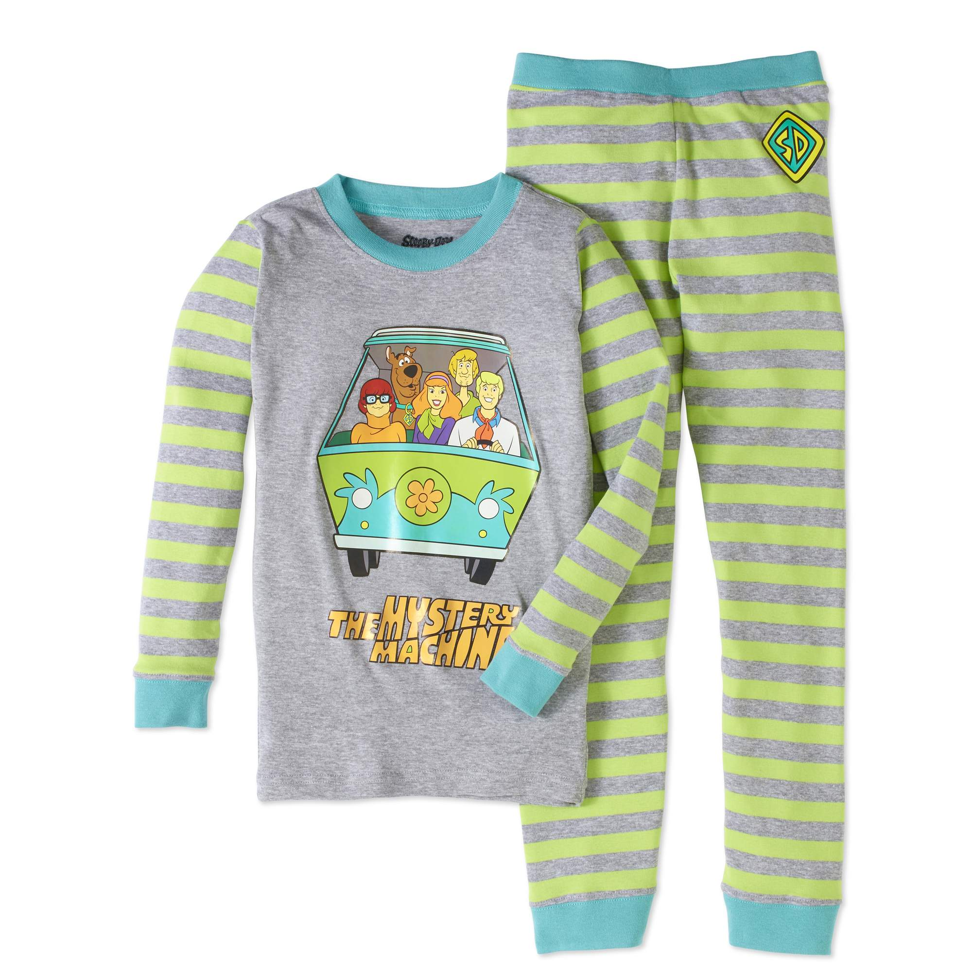Scooby Doo Boys' Mystery Machine 2 Piece Pajama Sleep Set