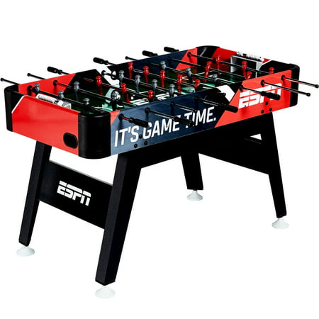 ESPN 54-Inch Arcade Foosball Soccer Table with Bead Scoring and Accessories