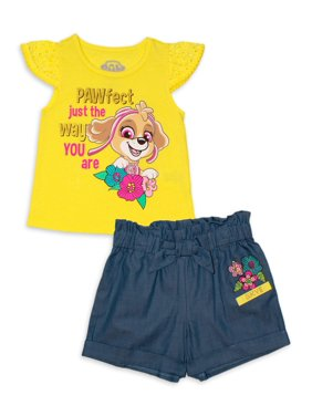 Paw Patrol Baby & Toddler Girl T-shirt & Shorts, 2pc Outfit Set