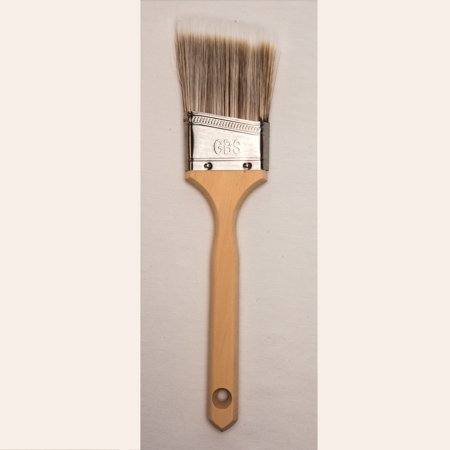 GBS Polyester Paint Brush 2.5-inch. Premium Angle Sash Paint Brush for Walls, Cutting in, Trim, Edge, Stain, Cabinet, Deck, Fence, Home, House Interior and Exterior. for Professionals and DIY - Interior Exterior Brushes