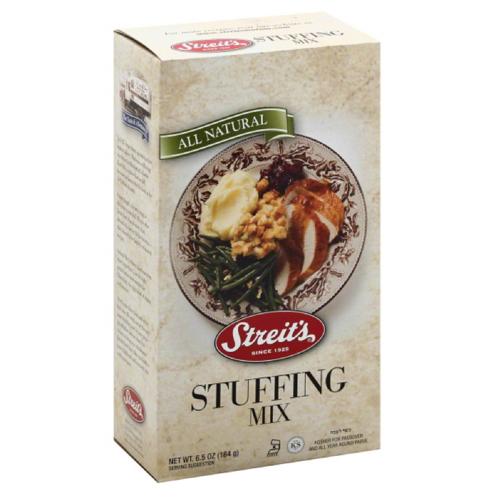 Streit's Stuffing Mix - Case of 12 - 6.5 oz.