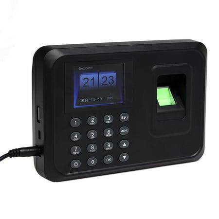 Time Recorder Clock Employee Attendance Fingerprint Password USB TCP/IP (Fingerprint Time Recorder)