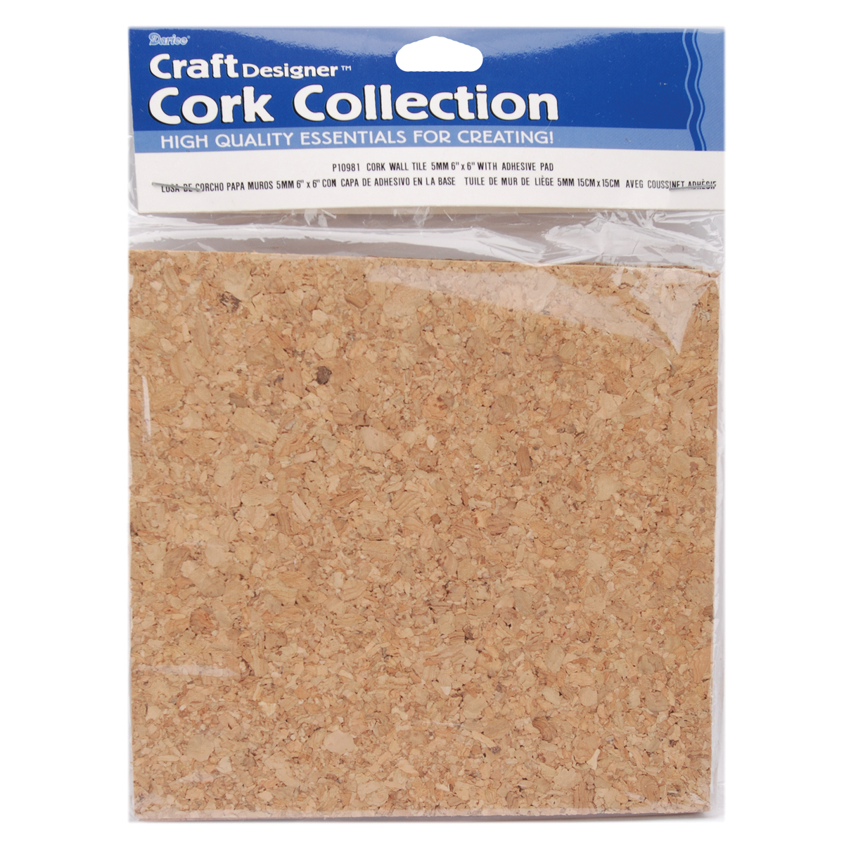 Cork Tile Squares: 6 x 6 inches, 4 Pack
