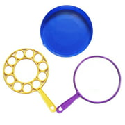 Bangcool 3PCS Bubble Wand Set Funny Plastic Bubble Blower Wand Bubble Tray for Outdoor